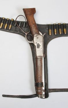 """In the 1958 TV show """"Wanted: Dead or Alive,"""" Steve McQueen carried this shortened Model 1892 Carbine, manufactured by Winchester Repeating arms """"Mare's Leg"""" Steve Mcqueen, Weapons Guns, Guns And Ammo, Armas Ninja, Gun Holster, Holsters, Lever Action Rifles, The Lone Ranger, Fire Powers"""