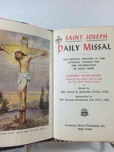 Saint Joseph Daily Missal 1956 Mass Instruction Text Collectible