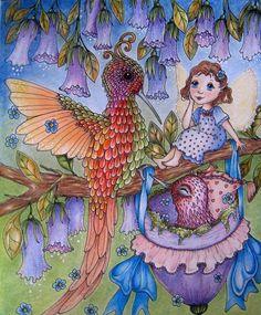 "Dorothy Nation on Instagram: ""'Fairy Celebrations' by Klara Markova. Pencils & pastel pencils. #klaramarkovafairycelebrations #klaramarkova #klaramarkovacolouringbook…"""
