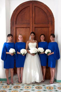 Bridal party in Positano Wedding Hall, Amalfi Coast