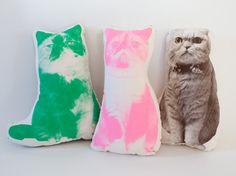 Cat Goma shaped cushion by FGMstore on Etsy, $39.00