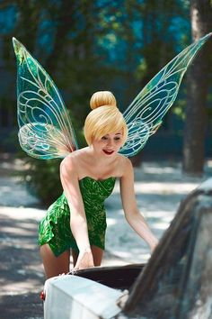 Tinker Bell wings - made from Iridescent & Transparent vinyl. with light weight aluminum veins...