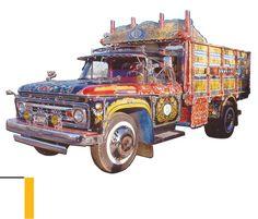 Camion fileteado por Ricardo Gómez