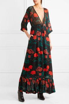 b7c99b9f3ed5 GANNI - Newman floral-print georgette maxi dress