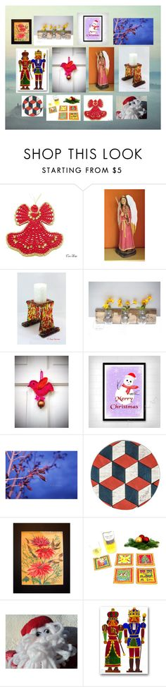 """Christmas is Coming: Handmade Home Accents"" by polinakaranda on Polyvore featuring interior, interiors, interior design, home, home decor and interior decorating"