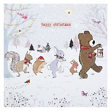 Buy Hammond Gower Line Of Animals Christmas Card Online at johnlewis.com