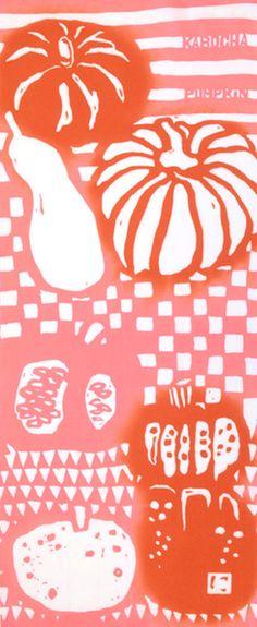 Japanese Tenugui Towel Cotton Fabric Hand by JapanLovelyCrafts
