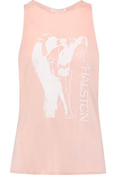 Shop on-sale Halston Heritage Twist-back printed modal-jersey tank. Browse other discount designer Tops & more on The Most Fashionable Fashion Outlet, THE OUTNET.COM