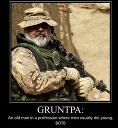 I may be old but don't underestimate me I was in the 101st airborne