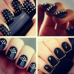 studded nails night out on the town