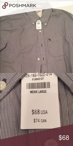 aecba9230c2fd Shop Men s Abercrombie   Fitch Black White size L Casual Button Down Shirts  at a discounted price at Poshmark.