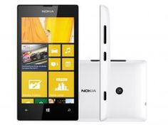 "Smartphone Nokia Lumia 520 3G Windows Phone 8 - Câmera 5MP Tela 4"" Proc. Dual Core Wi-Fi A-GPS"