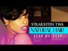 How-to Straighten TWA Natural Hair - YouTube