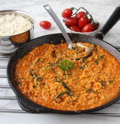 Lchf, Vegetable Dishes, Risotto, Nom Nom, Good Food, Curry, Food Porn, Food And Drink, Vegan