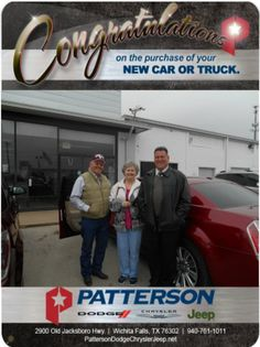 Congratulations to John and Vickie Schreiber on their 2014 Chrysler 300 C! - From David Reece at Patterson Dodge Chrysler Jeep Ram