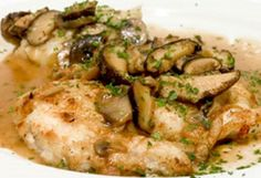 Marsala is Italy is famous for its fortified wine which makes an outstanding sweet sauce when used in this easy baked chicken marsala recipe. Braised Chicken Thighs, Chicken Thighs Mushrooms, Cook Mushrooms, Easy Baked Chicken, Baked Chicken Recipes, Chicken Meals, Chicken Recepies, Recipe Chicken, Bon Appetit