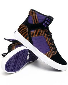 Supra | Skytop Tiger Print Sneakers. Get it at DrJays.com