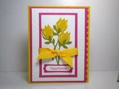 Peanuts and Peppers Papercrafting: Stampin' Up Two Step Bird Punch Tulips Birthday Card