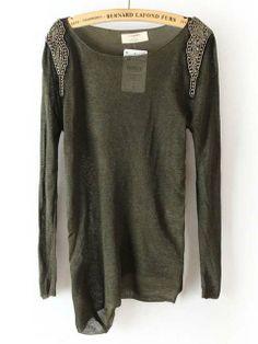 add sequins! dye sweater green