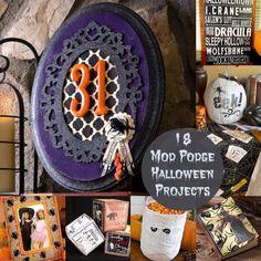 18 Spooky Mod Podge Halloween Projects