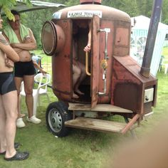 82 Mobile saunas of Finland – Ruusis Farm Projects, Welding Projects, Mobile Sauna, Building A Sauna, Sauna Design, Outdoor Sauna, Finnish Sauna, Tiny House Cabin, Prayer Room