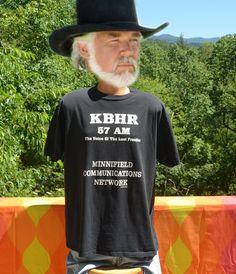 vintage 90s t-shirt WBHR radio 57 am northern by skippyhaha