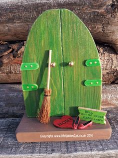 Wooden Handpainted Magical Wizard of Oz Inspired Fairy Door