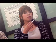 Sweet Japanese girl smoking 15