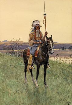 Southern Plains Indian Warrior, 1894 by Henry Farny Native American Artists, Native American Indians, Native Indian, Native Art, Plains Indians, Cowboy Art, Martial Artists, Le Far West, Mountain Man