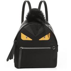 Fendi Bag Bugs mini nylon and fur backpack (24.248.435 IDR) ❤ liked on Polyvore featuring bags, backpacks, black multi, tote handbags, fendi tote, fendi backpack, nylon tote handbags and nylon tote