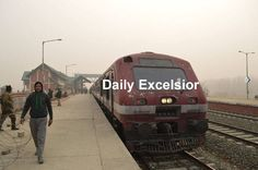 Railway authorities today suspended train services from Budgam to Banihal due to Arwani encounter hundreds of passengers stranded.......Excelsior\Younis Khaliq