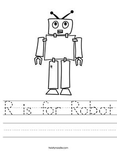 R Is For Robot Worksheet