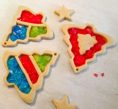 """Stained Glass Christmas cookies are showstoppers. The stained glass effect is a classic, and by adding royal icing trimming you can really kick up the """"wow"""" factor. Stained Glass Cookies, Making Stained Glass, Stained Glass Christmas, Quilted Christmas Ornaments, Christmas Cookies, Cookie Decorating, Decorating Ideas, Love Cake, Holiday Baking"""