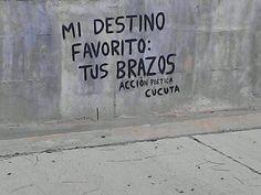 Mi destino favorito:  Tus brazos #Acción Poética Cúcuta #accion