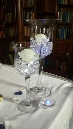 Glass Candle Holders for Wedding at Lilleshall Hall