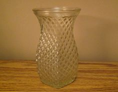 """Free Shipping on Clear Hoosier Glass 5.5"""" Tall Diamond Point Vase Diamond Point, Thrift Store Finds, Thrifting, Vase, Free Shipping, Elegant, Home Decor, Classy, Chic"""