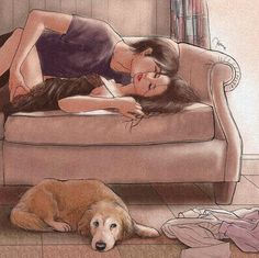 Ambos entendemos lo que siente el otro y sabemos que un abrazo largo y cálido va a solucionarlo todo.