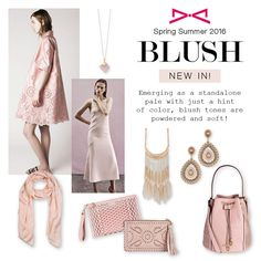 Emerging as a standalone pale with just a hint of color, blush tones are powdered and soft! Fashion Story, Spring Summer 2016, Blush, Life, Color, Style, Swag, Rouge, Colour
