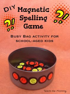 DIY Magnetic Spelling Game    A fun busy bag activity for older ones!