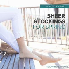Seeking a more stylish alternative to the thick beige compression hosiery on the market today? RejuvaHealth offers a wide variety of stylish and fashionable graduated compression legwear so you can feel great and look great too! Opaque Stockings, Knit Stockings, Compression Stockings, Healthy Style, Improve Circulation, High Knees, Chronic Illness, Feeling Great, Health And Wellness