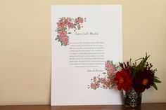 Personalised Vintage Country Garden Roses Wedding by KitchCards, £15.00