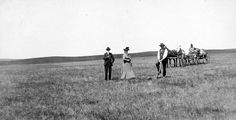 Homesteaders Breaking Ground, Hettinger County, ND, circa 1900. This may be similar to what it looked like to break sod on the Canadian prairie.