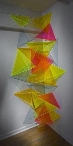Plexiglass Art Installationsby Doreen McCarthy.