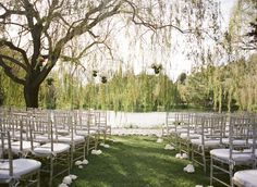 Photography by Gia Canali / giacanali.com, Event Design and Production by Yifat Oren The wedding venue was perfect. We were so happy with the flow of everything. We got married by the weeping willows next to the pond.