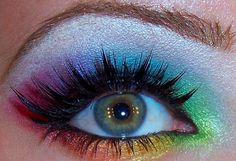 rainbow eye makeup:)