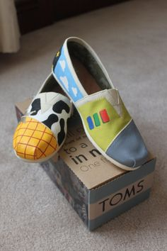 Hey, I found this really awesome Etsy listing at https://www.etsy.com/listing/224386146/toy-story-painted-shoes-toms-bobs
