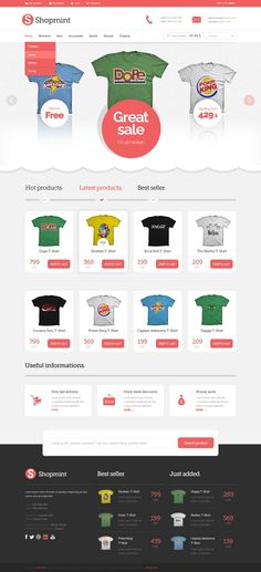 Shopmint - Free PSD Ecommerce Template
