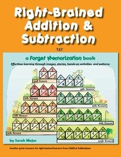Right-Brained Addition & Subtraction takes a left-brained subject (using symbols, abstract concepts, rules to memorize) and integrates right-brained elements and body motion in order to engage the multiple regions in the brain in the learning process. Homeschool Math, Homeschooling, Math Literacy, Numeracy, Left Brain Right Brain, Sight Word Flashcards, Basic Math, Learning Styles, Writing Numbers