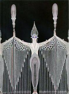 """Le Bijoux De Perles"" Erte Russian Federation • Limited Edition Print • Lithograph Size : 30 x 22 in   76 x 56 cm"