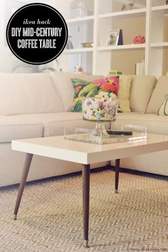 DIY: Een LACK tafel voorzien van vintage tafelpoten